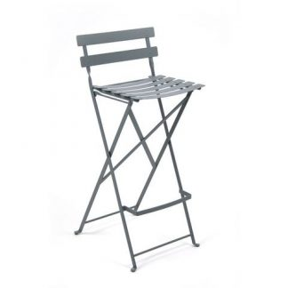 Bistro high chair in Storm Grey
