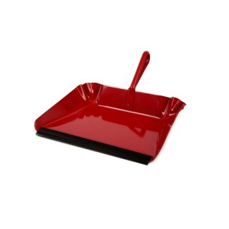 Red metal dust pan